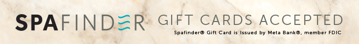 SpaFinder Gift Cards Accepted